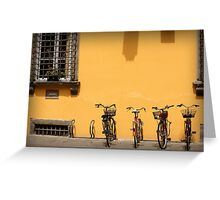 Bicycles Rest Here Greeting Card