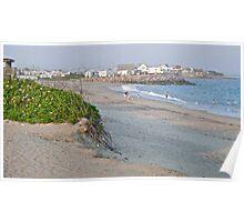 First Day at the Beach at Dusk - Matunuck - Rhode Island Poster