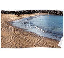 black beach in  tenerife Poster
