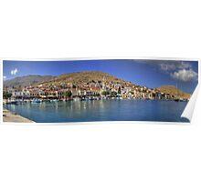 Halki Harbour View Poster