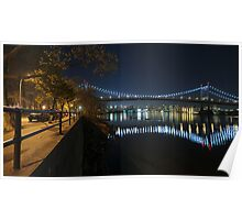 Manhattan in motion - Astoria park Poster
