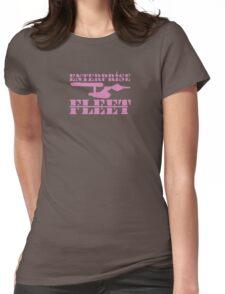 Fleet-wear - Pink Womens Fitted T-Shirt