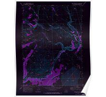 USGS Topo Map Oregon Sage Hen Butte 281353 1968 24000 Inverted Poster