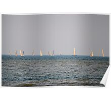 Sailboats on Lake Ontario Poster