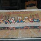 Last Supper printed on Ceiling Tile by cheetaah