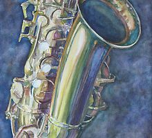 Portrait of a Sax by JennyArmitage
