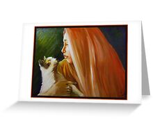 Cat Whisper Greeting Card