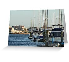 busy dock Greeting Card