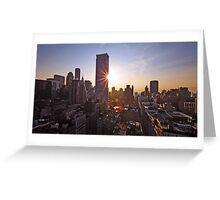 Manhattan in motion Greeting Card