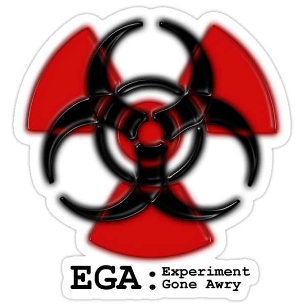 Experiment Gone Awry - Sticker by welchko