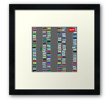 Crowded parking Framed Print