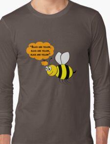 Black and yellow, Wiz Khalifa music parody Long Sleeve T-Shirt