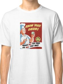 Make All The Food Go All The Way -- WWII Classic T-Shirt