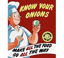 Make All The Food Go All The Way -- WWII Photographic Print
