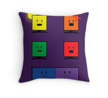 Reflections of Us- Purple Throw Pillow