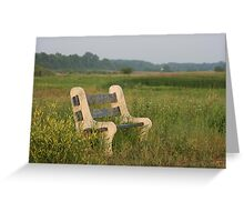 Empty bench in the Limberlost Greeting Card