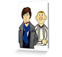 Sherlock and John Muppet Style Greeting Card