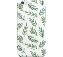 hand drawn watercolor leaf iPhone Case/Skin