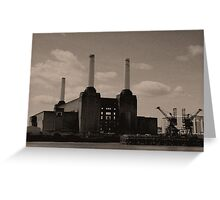 Battersea Power Station Reticulated, London 2011 Greeting Card