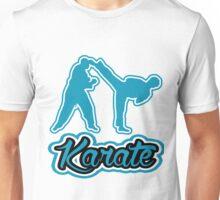 Karate Side Kick Blue  Unisex T-Shirt