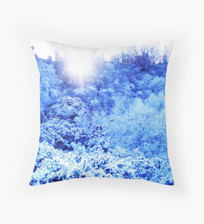 mountain snow  Throw Pillow