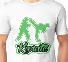 Karate Side Kick Green Unisex T-Shirt
