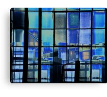 A Blue Pane. Canvas Print