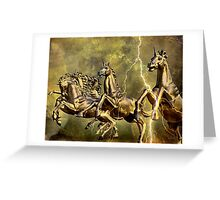 Electric Steeds Of Appolo Greeting Card
