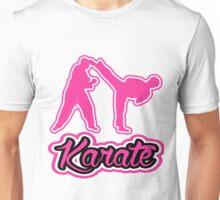 Karate Background Text Pink  Unisex T-Shirt