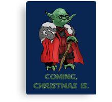 Yoda Stark Christmas Canvas Print