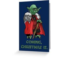 Yoda Stark Christmas Greeting Card