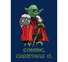 Yoda Stark Christmas Photographic Print