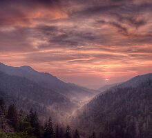 Smoky Mountain Sunset by James Hoffman