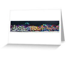 The New Wall ( Hews, Sneke, Dondi by Rime & MYth ). Greeting Card