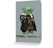 Yoda Stark Greeting Card