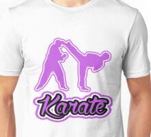 Karate Side Kick Purple  Unisex T-Shirt