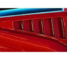 The Red Mustang. Photographic Print