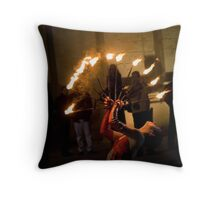Miss Flame Throw Pillow