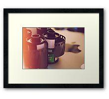Film and my mac Framed Print