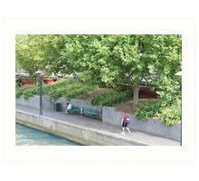 Riverside pathway Art Print