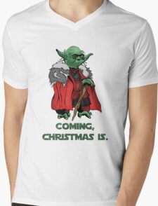 Yoda Stark Christmas Mens V-Neck T-Shirt