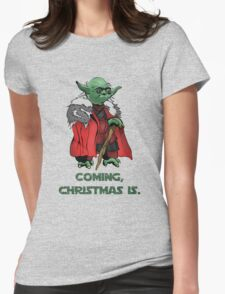 Yoda Stark Christmas Womens Fitted T-Shirt
