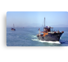 Leading home the fishing fleet , Hong Kong. Canvas Print