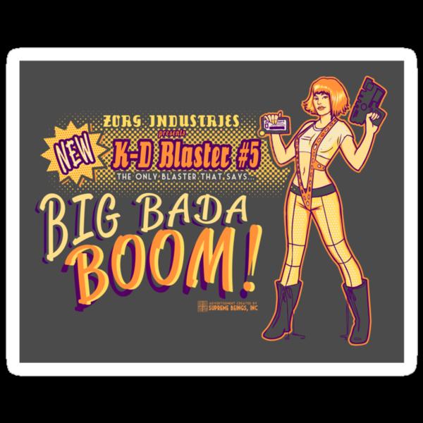 Big Bada Boom Sticker #2 by MeganLara