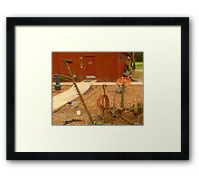 "AND THE FARMER SAID, ""WE'VE COME A LONG WAY, BABY"" Framed Print"