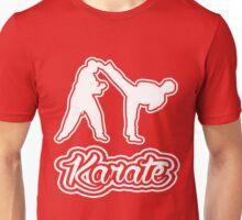 Karate Side Kick White Text  Unisex T-Shirt