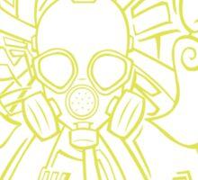 Gas mask-183 Sticker