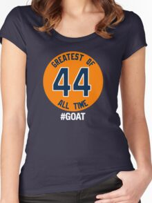 GREATEST OF ALL TIME. #GOAT Women's Fitted Scoop T-Shirt