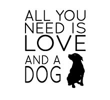 All You Need Is Love And A Dog Photographic Print
