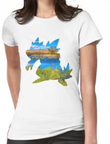 Feraligatr used surf Womens Fitted T-Shirt